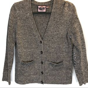 Juicy Couture Women's Chrystal & Tweed Cardigan